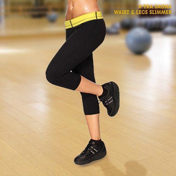 X-TRA SAUNA WAIST & LEGS SLIMMER CROPPED LEGGINGS