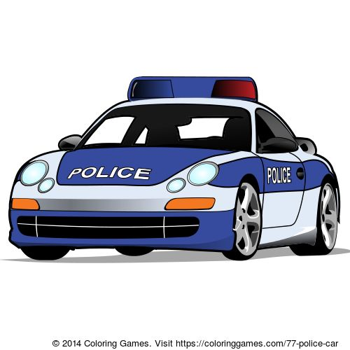 police car coloring page online coloring game for kids