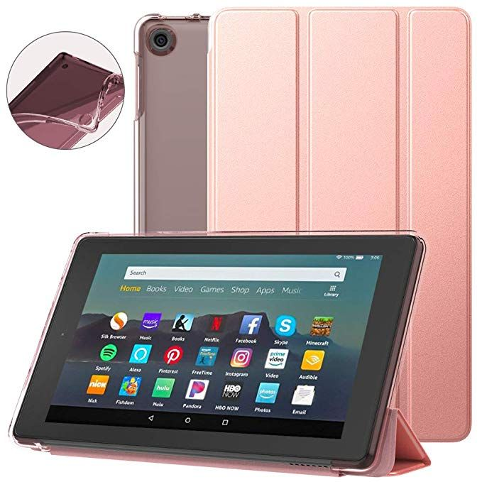 Dadanism All New Amazon Kindle Fire 7 Tablet Case 9th Generation 2019 Release Flexible Tpu Translucent Back Shell U Tablet Case Amazon Kindle Fire Tablet