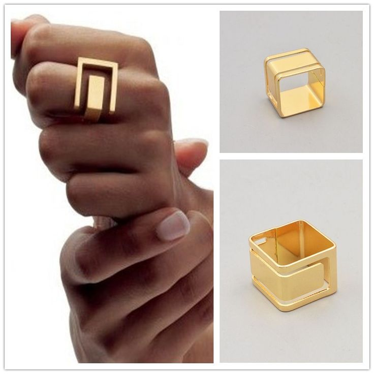 New fashion jewelry gold plated metal geometric finger ring gift for women ladies R1564