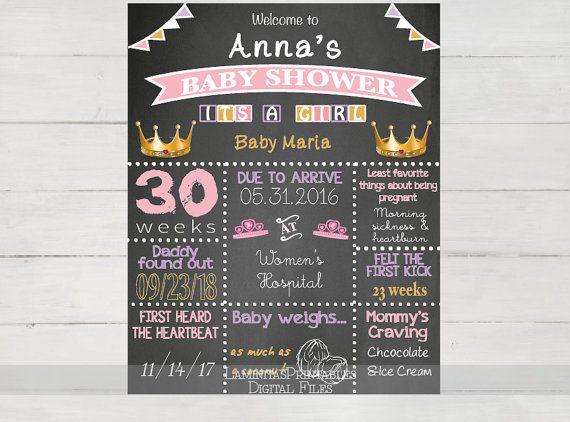 Baby-Dusche - Baby Dusche Tafel - Poster Tafel - sofortiger Download - anpassen druckbare - Geburtstag - Eulen - Rose-