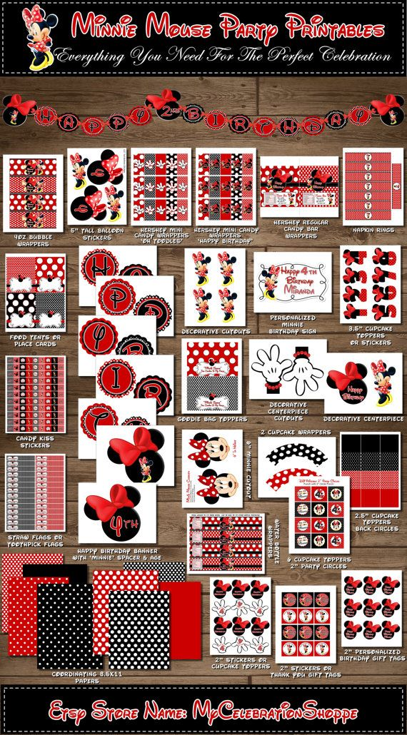 HUGE Red, Pink Dots, Pink Dots, Pink Zebra Party Pack, Minnie Mouse Party Pack, Birthday Party Decorations, My Celebration Shoppe, Diy Party...