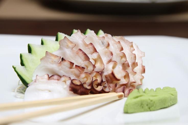 Sashimi de Polvo - Octopus Sashimi by Sushiman Rodrigo Eiji Kikuchi