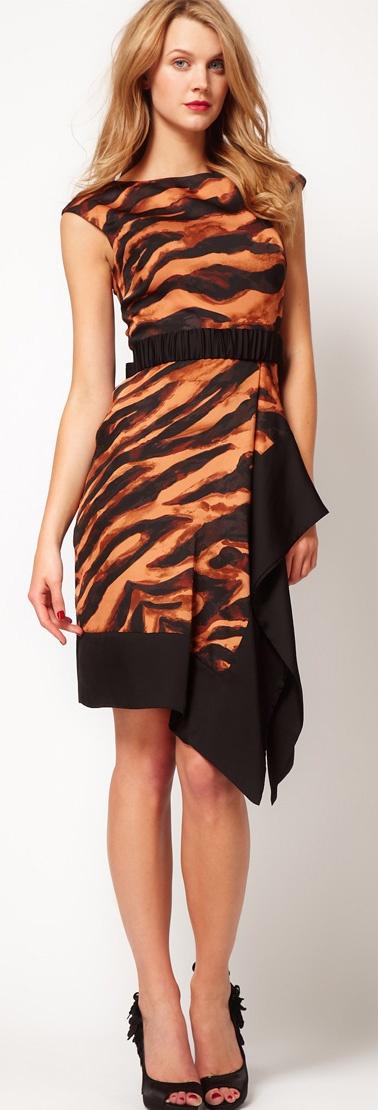 Karen Millen Tiger Print Dress