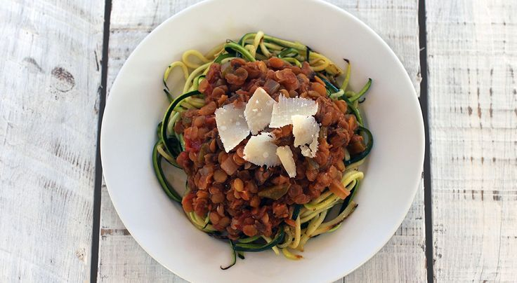 217 calories This bolognaise is so filling and versatile that you simply don't need the meat. There is enough here to serve 6 but it freezes well so you can freeze individual portions. Simply re-he...