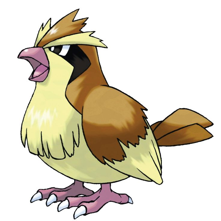 Pidgey - 016 - A common sight in forests and woods. It flaps its wings at ground level to kick up blinding sand. It is docile and prefers to avoid conflict. If disturbed, however, it can ferociously strike back.  @PokeMasters.net