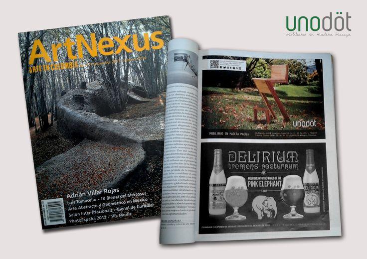 Nuestra pauta en la Revista ArtNexus con la silla Zeta para barra, seleccionada por la Revista Axxis Colombia entre los 100 diseños del año 2013. Edición Diciembre de 2013.