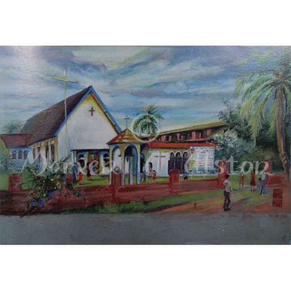 St Margaret's Church by Morven A. Alston. Artwork created in: Seria, Brunei