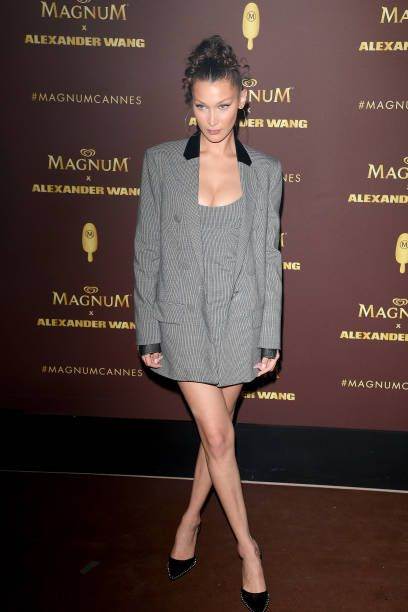 71ac3340b41c Model Bella Hadid attends the Magnum VIP party during the 71st annual  Cannes Film Festival at Magnum Beach on May 10 2018 in Cannes France