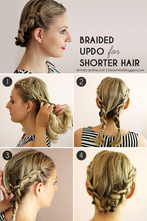 Peinados: Cómo hacer fácil una trenza para el pelo corto.