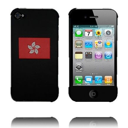 iPhone 4/4S (Hong Kong) Deksel - Ekte Lærbelagt (Sort)