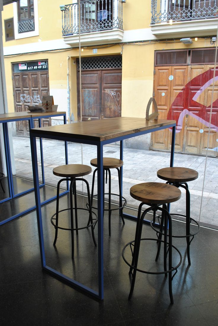 M s de 25 ideas incre bles sobre mesas altas en pinterest - Mesa alta con taburetes ...