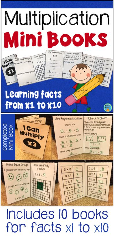 Fun little mini books for practicing multiplication facts! Includes arrays, equal groups, repeated addition, skip counting, and word problems.