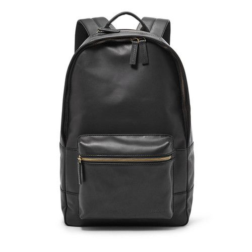 Fossil Estate Casual Leather Backpack Black