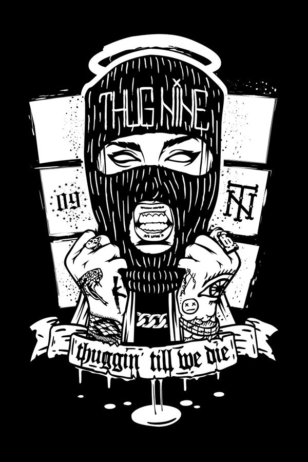 Gangsta girl thug nine behance gangsta girl thug, love quotes coloring pages