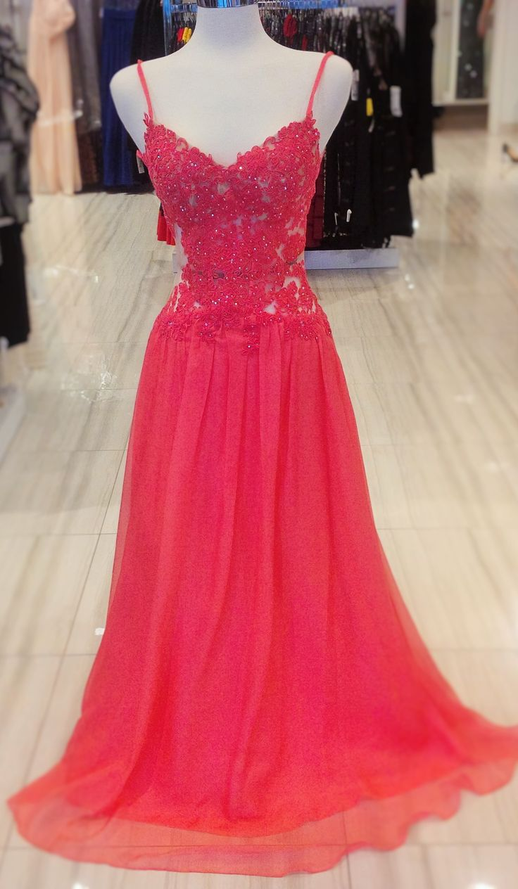 ONE OF OUR HOTTEST BUYS! this gown is a perfect combination of elegant and fun! the see-through lace is very flattering for anyone figure but does not expose too much skin. You'll feel comfortable and pretty when you dance the night away #classicboutique #classic #prompromprom #promnight! #love #pickeringtowncenter #eastgwillimbury