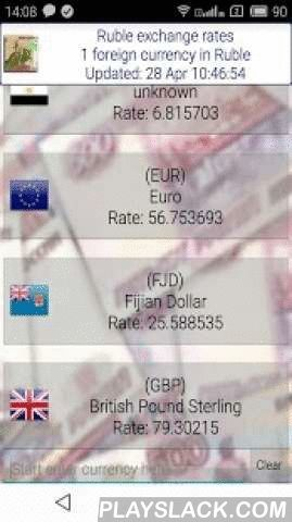 Ruble Exchange Rates Converter  Android App - playslack.com ,  The application provides up-to-date Russian Ruble Forex exchange rates for more than 90 world currencies. Convert any currency with built-in converter.* Rates updated every hour* Currency converter* Automatic update* Simple interfaceRates available for the next currencies: United Arab Emirates Dirham, Argentine Peso, Australian Dollar,Aruban Florin, Bosnia and Herzegovina mark, Barbadian Dollar, Bangladeshi Taka, Bulgarian Lev…