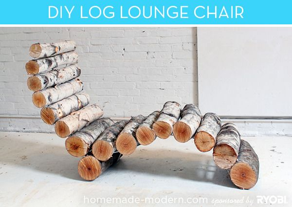 Make It: DIY Outdoor Log Lounge Chair » Curbly | DIY Design Community