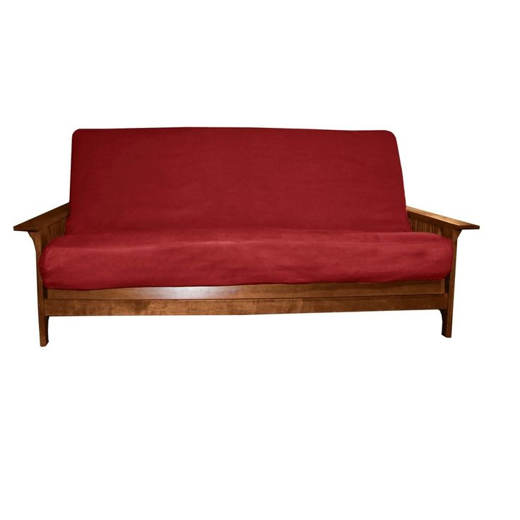 Ultimate Better Fit Machine Washable Upholstery Grade Futon Mattress Cover - Queen-size - Cardinal Red - Sit N Sleep