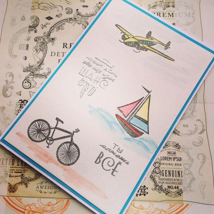 #открытка #длямальчика #детскаяоткрытка #штампыдляраскрашивания #штампинг
