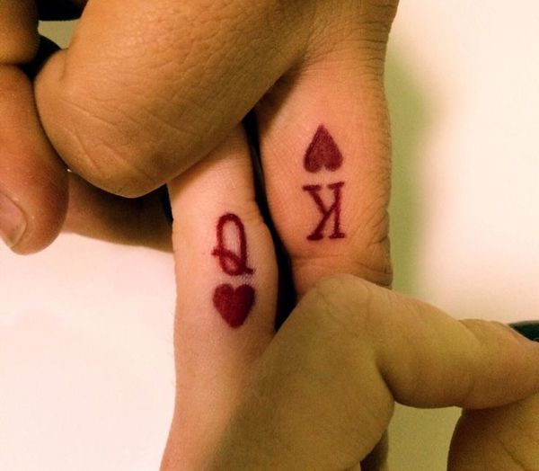 King and queen matching tattoos....I love it!!