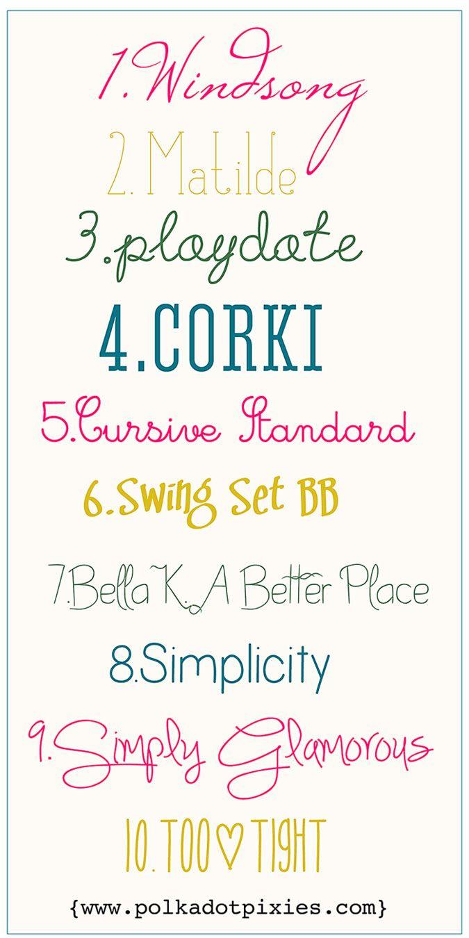 Polka Dot Pixies favorite fonts