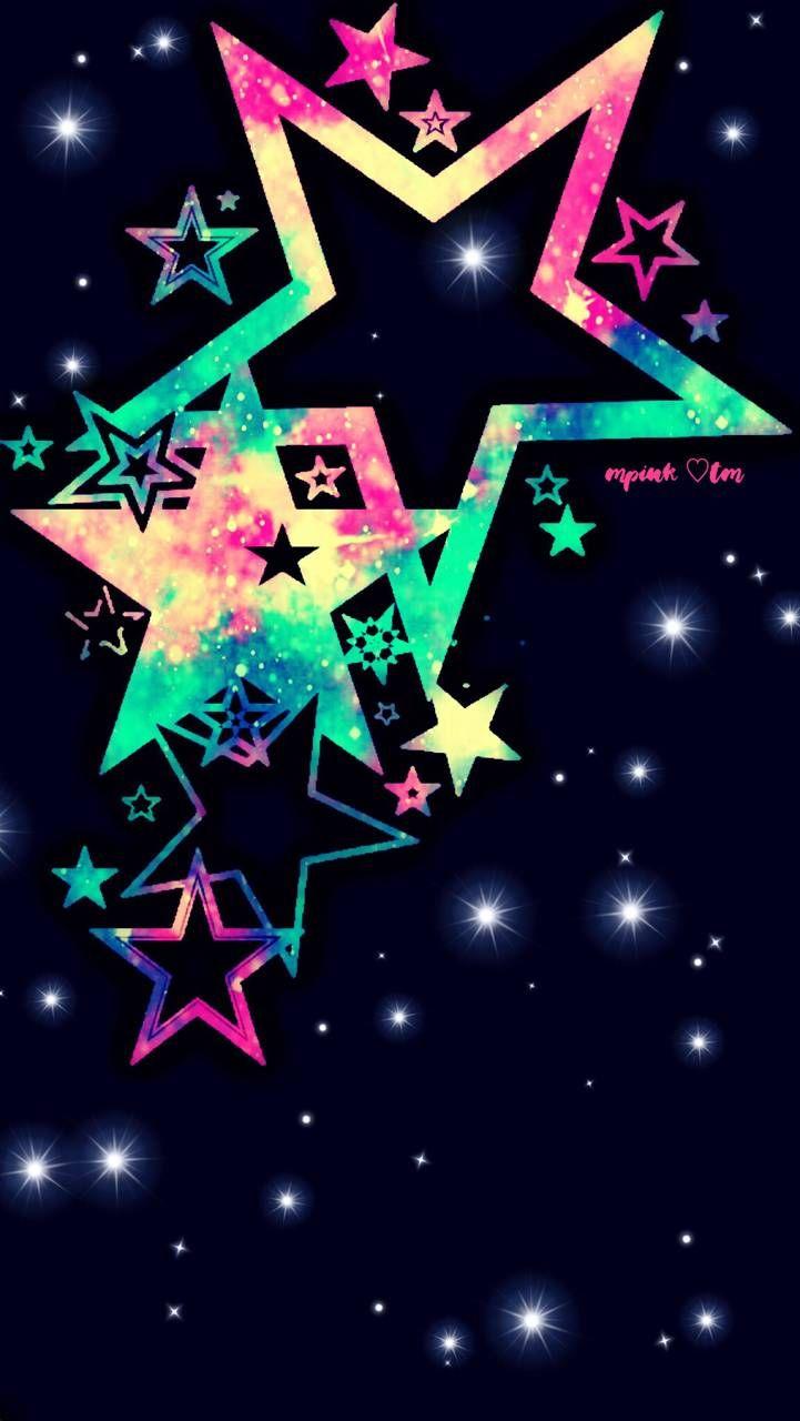 Neon Stars Galaxy Wallpaper Androidwallpaper Iphonewallpaper Wallpaper Galaxy Sparkl Blue Butterfly Wallpaper Wallpaper Iphone Christmas Pretty Wallpapers