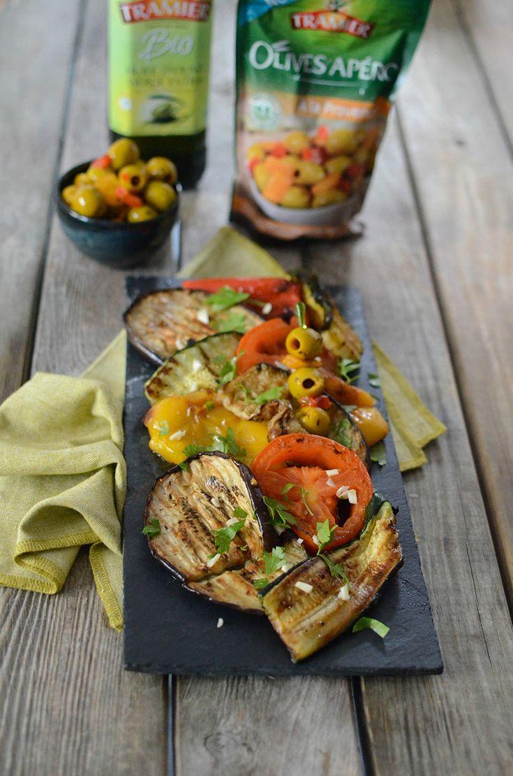 Légumes à la plancha brochettes d'Olives Apéro à la provençale #recette #plancha
