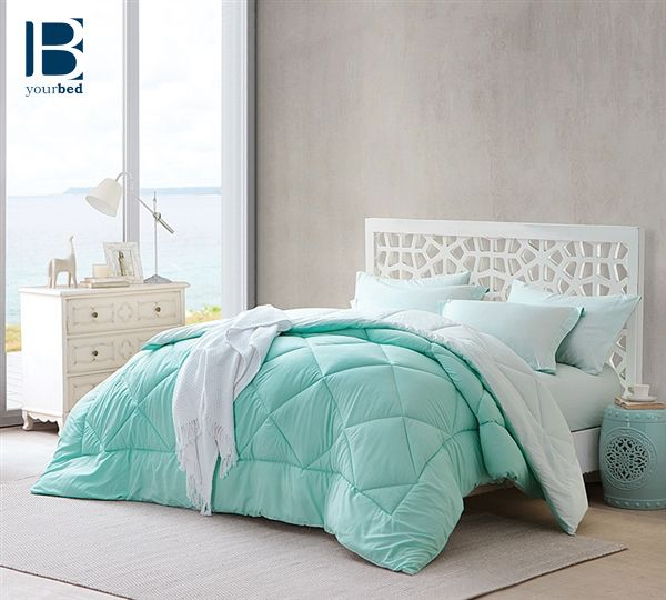Choose Byourbed's Yucca/Hint of Mint Comforter for simple versatile bedding. Not everyone wants all of the #Decorative pillows that come with bedding sets, but would rather have a more slimmed down look. The lovely hint of #Mint color on one side of this reversible comforter will bring a sense of cool softness to your #Bedroom_Decor.  #BYB #Byourbed #Mint_Bedding #Mint_Decor #Minty #Mint_Bedroom #Bedroom_Decorating #Bedding #Best_Comforter #Reversible