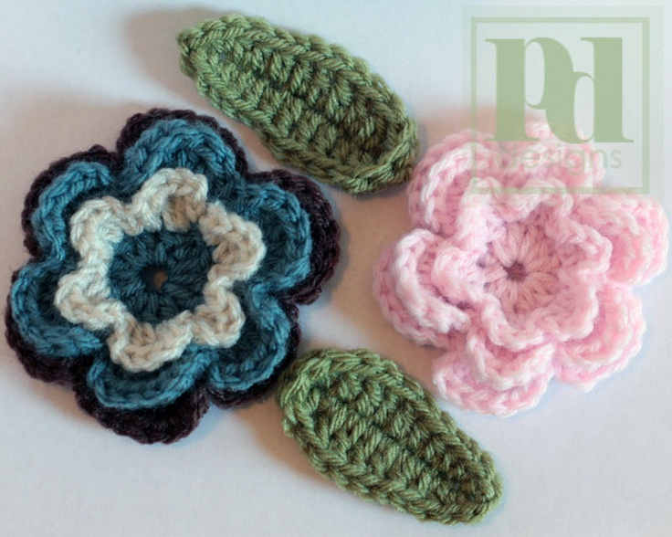 Free Crochet Pattern Three Layer Flower : 240 best Crochet Flowers and leaves projects ~ Free ...