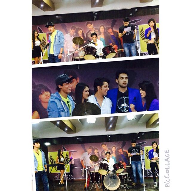 Getting ready to blast their performance all together... Best of Kaisi yeh yaariyan fab5 performing