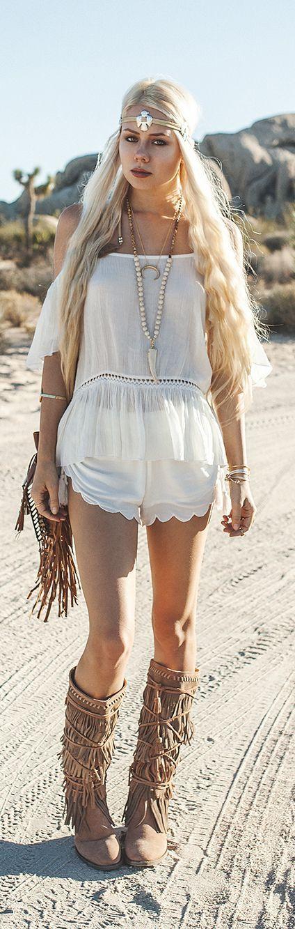 #boho #fashion - usa e abusa das franjas como neste look                                                                                                                                                                                 Mais