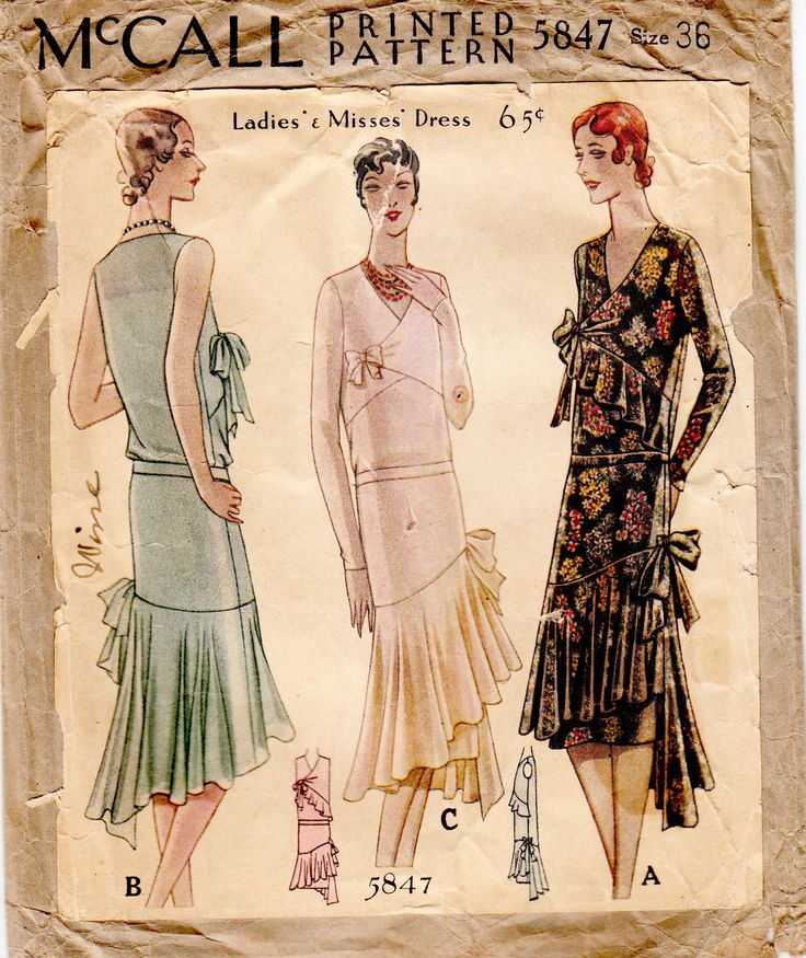 McCall 5847; ca. 1929; Ladies' & Misses' Dress