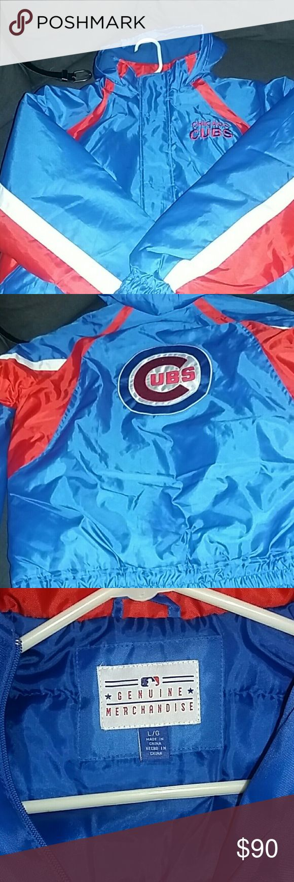 Men's Cubs Jacket Men's Chicago Cubs Jacket. This jacket is perfect for the fall season.  It's only been worn once and has lots and lots of life left in it. Taking all offers Cubs Jackets & Coats Windbreakers