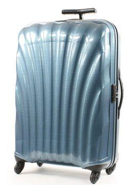 Valise Samsonite Cosmolite 74 cm bleu  La grande valise Samsonite Cosmolite 74 cm est quasi incassable. En effet, elle utilise la fameuse technologie de fabrication révolutionnaire en Curv qui lui procure ce dont chaque voyageur rêve : une valise légère, ultra résistante aux impacts et rayures, facile à transporter et fonctionnelle.  Avec sa technique de multicouches maillées, le Curv est l'un des matériaux les plus légers, robustes et résistants aux éraflures