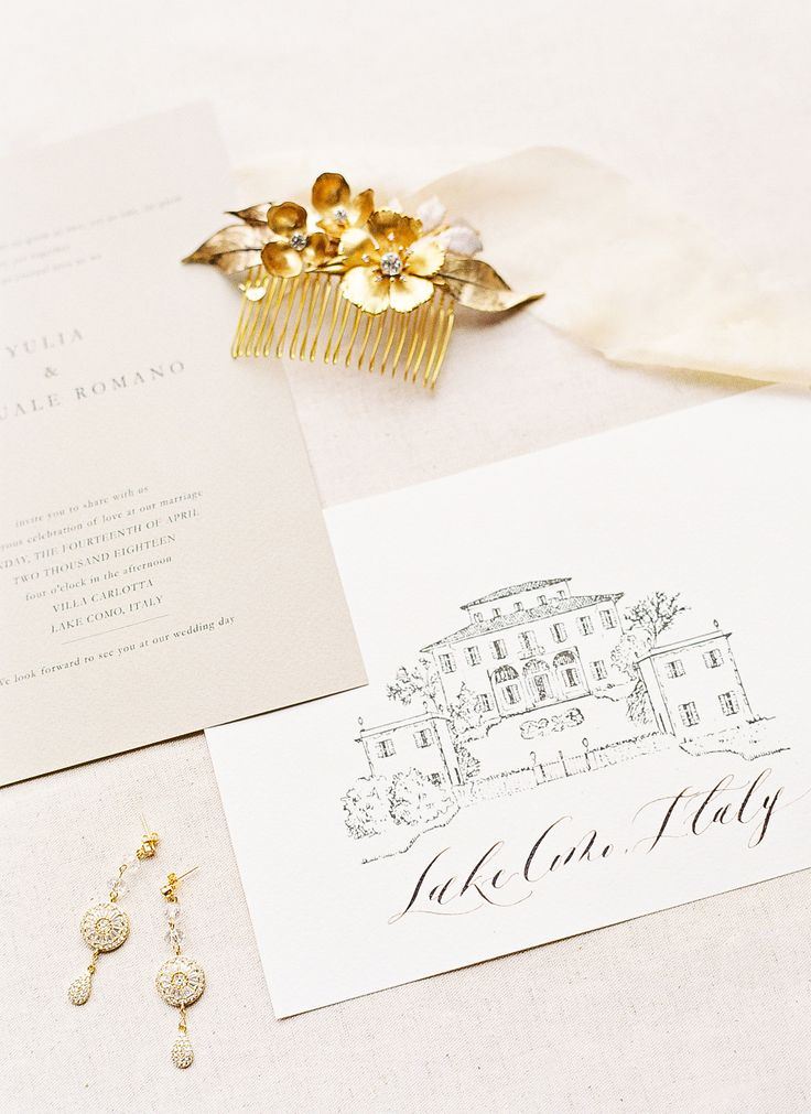 Elegant and Modern Beige & Champagne wedding Invitation for your ...