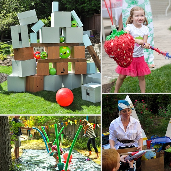 23 Outdoor Parties to Throw Your Summer Birthday Child: Summer Birthday Parties, Outdoor Birthday Parties, Cute Ideas, Birthday Parties Ideas, Outdoor Parties, Birds Games, 23 Outdoor, Angry Birds, Birthday Ideas