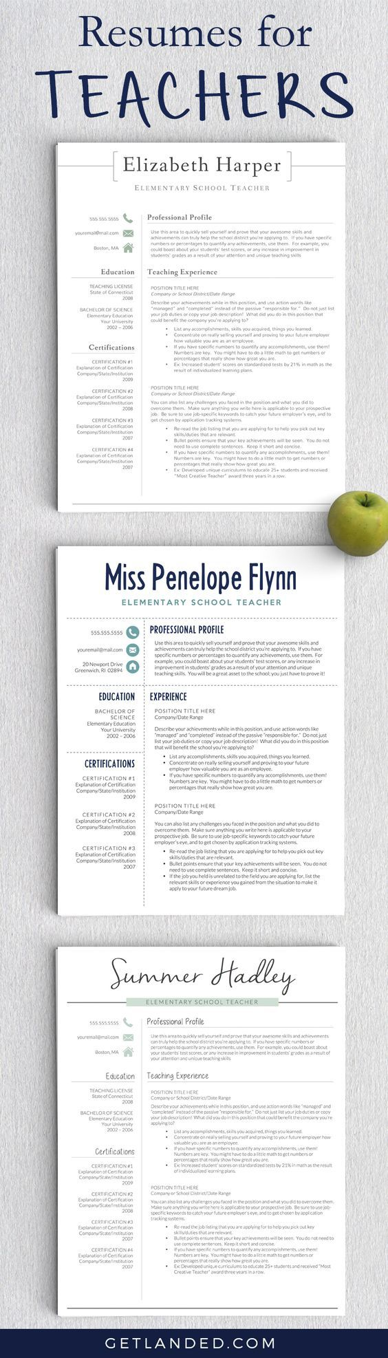 resumes designed for teachers and educators teacher resume teacher resume tips educator resume