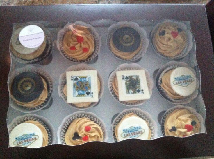 Ready for pick up Las Vegas theme cupcakes