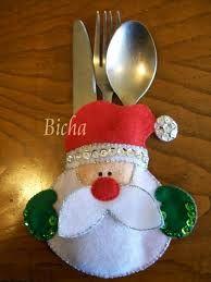 porta cubiertos navideños moldes - Buscar con Google