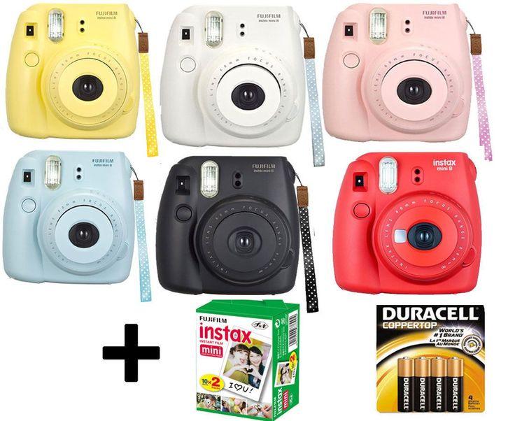 NEW Fuji instax mini 8 Fujifilm instant Film Camera Battery 20 Film All Colors