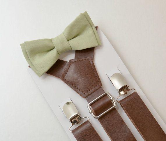 8months- Adult Kids Mens Baby Boys Wide Dark Brown PU Leather Suspenders…