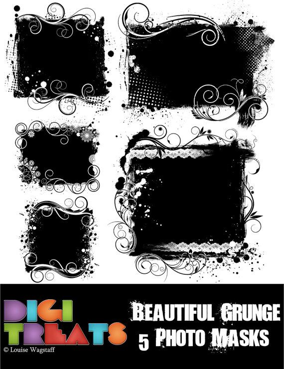 ***INSTANT DOWNLOAD*** 5 Beautiful Grunge Photo/ Clipping Masks, ideal for all paper crafting/ Photography projects. You will receive 1 zip archive