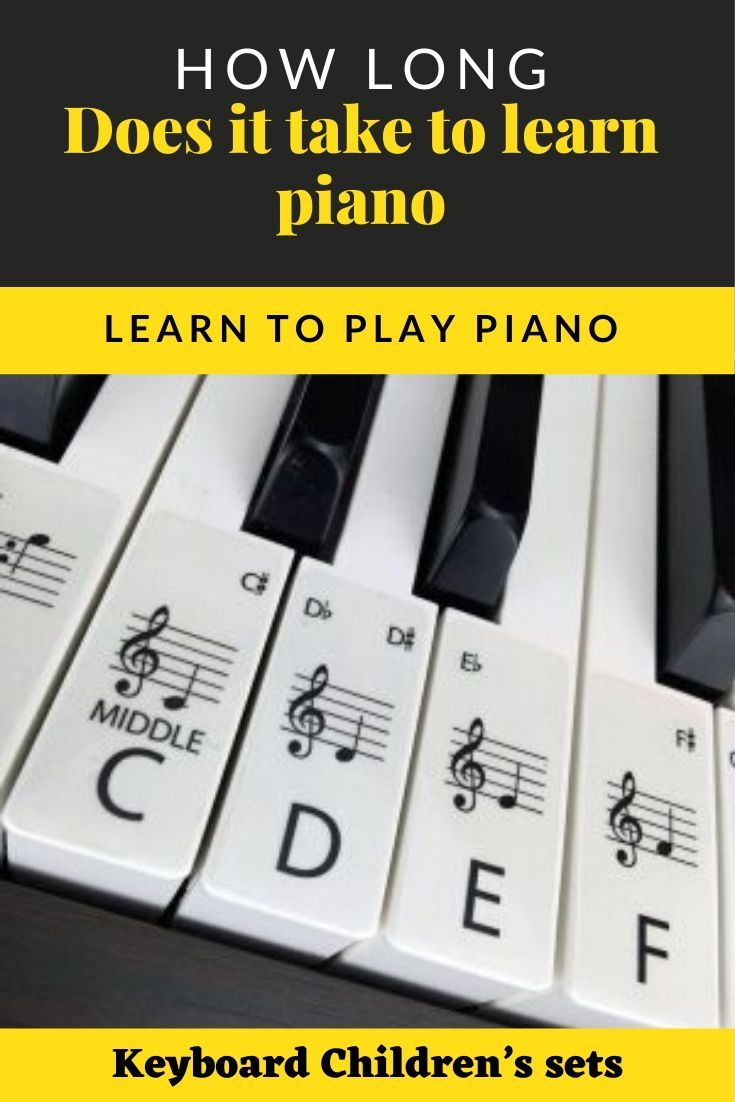 How Long Does It Take To Learn Piano In 2020 Learn Piano Piano How To Memorize Things