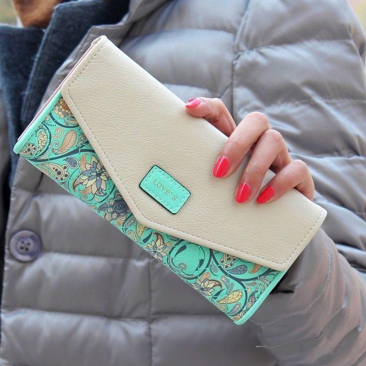 Marque de mode De Luxe Femmes Long Portefeuille Zipper Nouveau Populaire Fleur En Cuir Femelle Bourse Casual Carte Trésorerie Clutch Sac Filles Dames