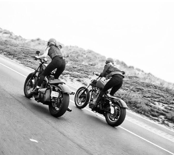 This is how women should be portrayed on motorcycles. RIDING THE HELL OUT OF THEM.