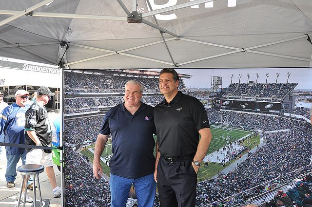 Bill Bergey and Mike Golic former Philadelphia Eagles