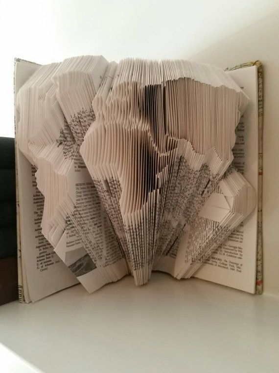 53 best folded book art images on pinterest folded book art art world globe map folded book art sculpture ready by excusemedesigns gumiabroncs Image collections