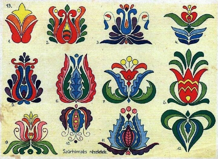 Hungarian folk patterns