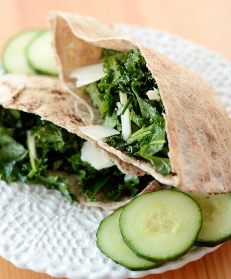 Whole Wheat Pita with Kale & Asiago | Recipe | Kale, Lunches and Lunch